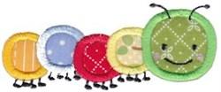 Applique Caaterpiller embroidery design