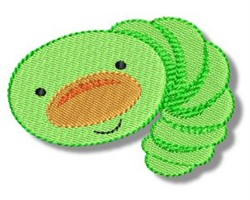 Green Worm embroidery design