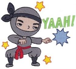 Yaah! Ninja embroidery design