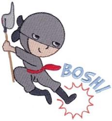 Bosh! Ninja embroidery design