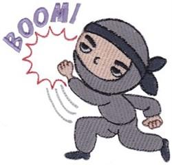 Boom! Ninja embroidery design