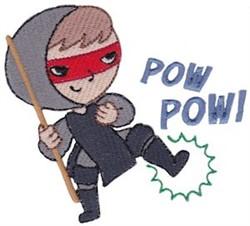 Pow! Ninja embroidery design