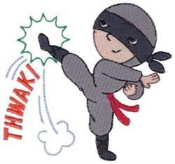 Thwak! Ninja embroidery design