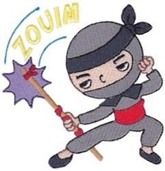 Zouim Ninja embroidery design