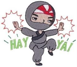 Hay Ya! Ninja embroidery design