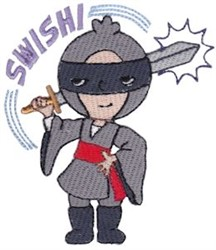 Swish! ````Ninja embroidery design