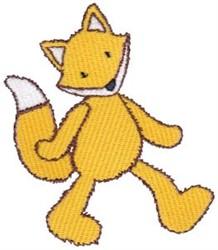 Walkiing Fox embroidery design
