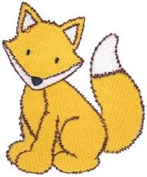 Sitting Fox embroidery design