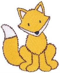 Fox Sitting embroidery design