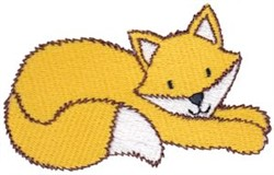 Relaxing Fox embroidery design