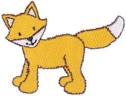 Standing Fox embroidery design