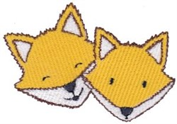Fox Heads embroidery design
