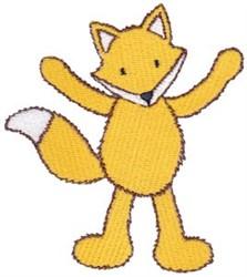 Happy Fox embroidery design