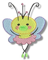 Ballerina Butterfly embroidery design