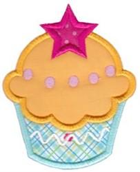 Star Cupcake embroidery design