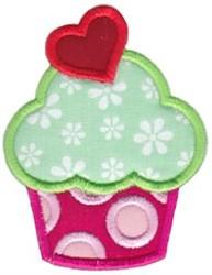 Valentine Cupcake embroidery design