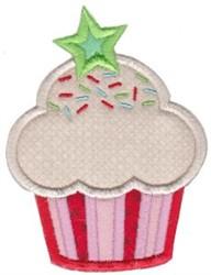 Applique Star Cupcake embroidery design