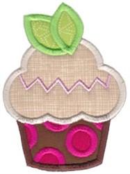Leaf Cupcake embroidery design