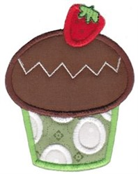 Strawberry Cupcake embroidery design