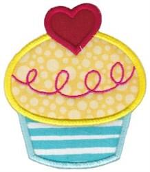Applique Love Cupcake embroidery design