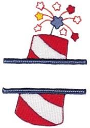 Firecraker Split embroidery design