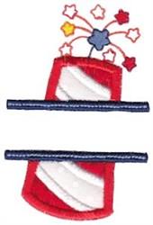 Firecracker Split Applique embroidery design