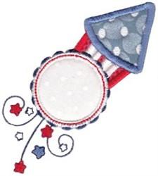Applique Rocket embroidery design