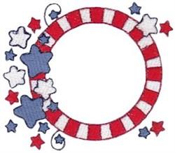 USA Frame embroidery design