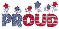 Proud America embroidery design