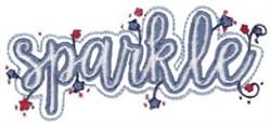 Sparkler embroidery design