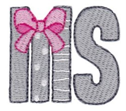 MS Sorority embroidery design