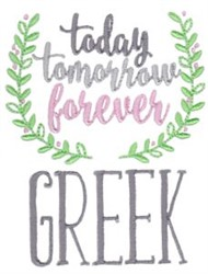 Forever Greek embroidery design