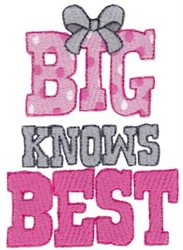Big Knows Best embroidery design