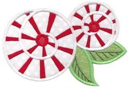 Sprial Bloom Applique embroidery design