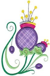 Applique Thistle embroidery design