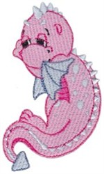 Pink Dragon embroidery design