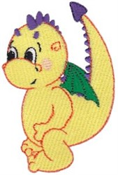Yellow Dragon embroidery design