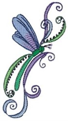 Swirly Dragonflies embroidery design