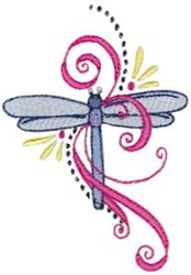 Dragonfly Swirls embroidery design