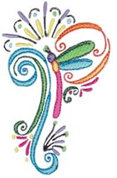 Dragonfly Flourish embroidery design