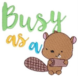 Busy Beaver embroidery design