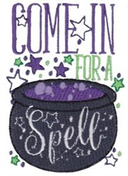 Come In For Spell embroidery design