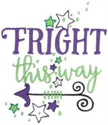 Fright The Way embroidery design
