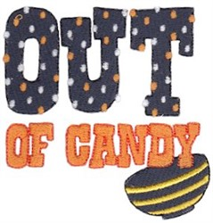 Out Of Candy embroidery design