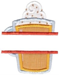 Holiday Drink Split embroidery design