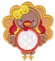 Turkey Monogram embroidery design