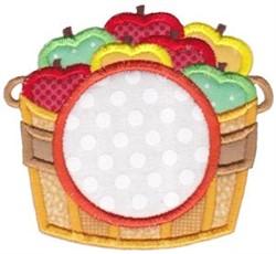 Apple Basket Monogram embroidery design