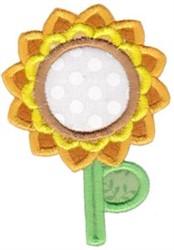 Sunflower Monogram embroidery design