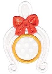 Wish Bone Monogram embroidery design