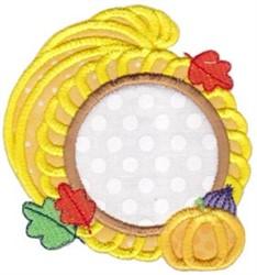 Cornucopia Monogram embroidery design